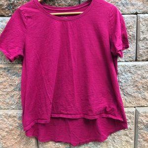 Ann Taylor Loft High Low Cranberry/Wine Color Top